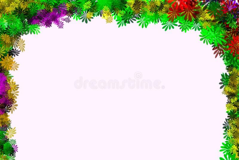 Blumenillustrationsdesigngrenzrahmenhintergrund lizenzfreie stockfotos