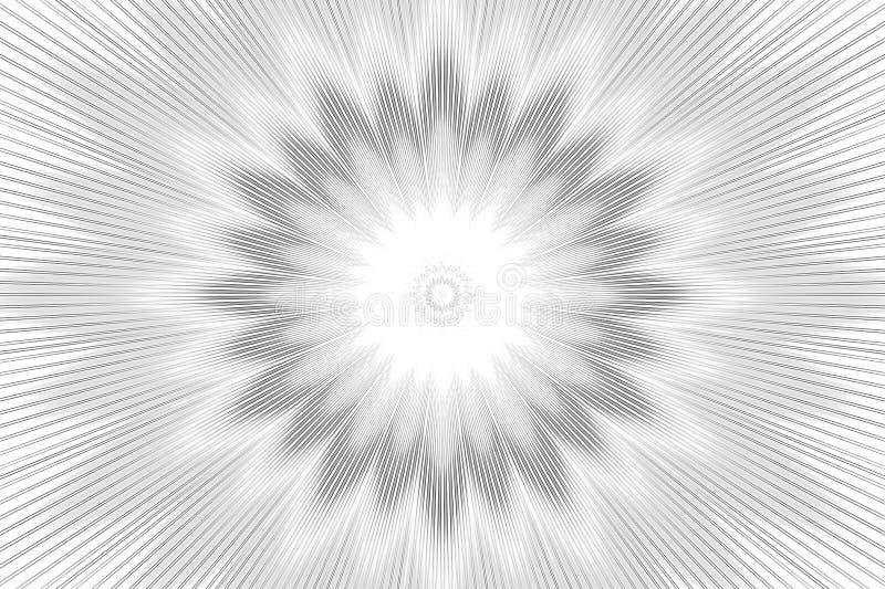 Blumenkaleidoskop des einfarbigen Musterhintergrundes Dekor geometrisch stock abbildung