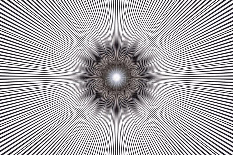 Blumenkaleidoskop des einfarbigen Musterhintergrundes keramisches Schwarzes stock abbildung