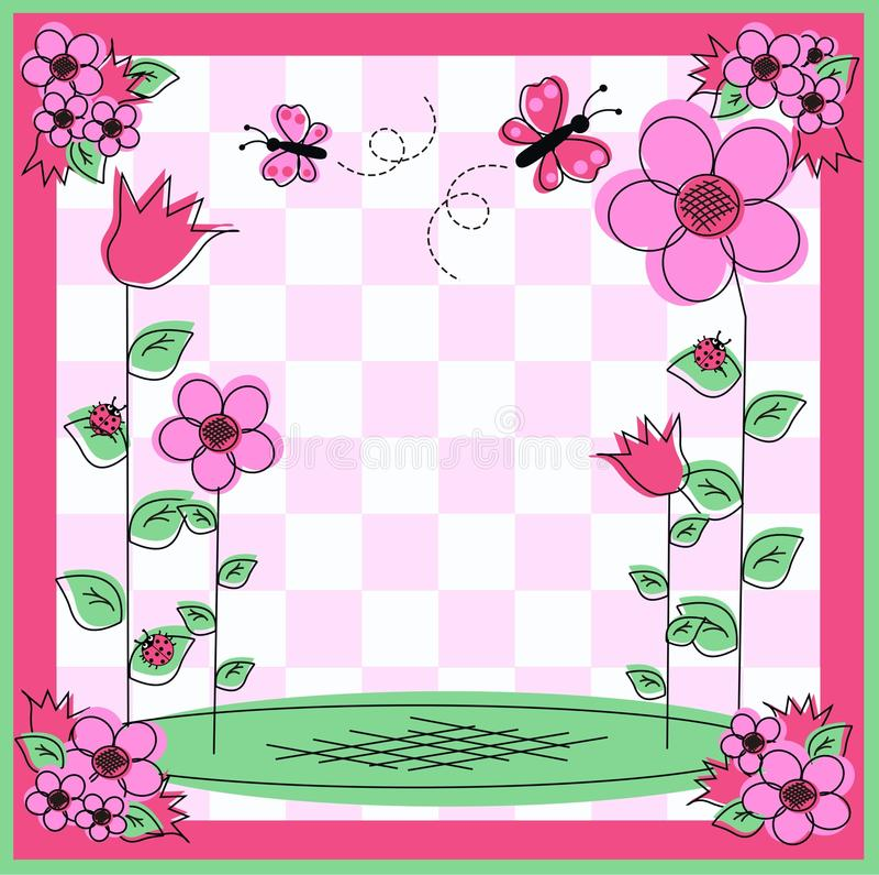 Blumenkarte stock abbildung