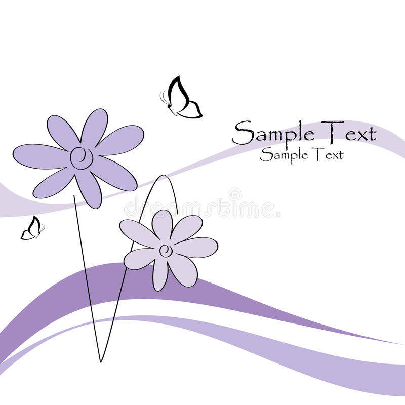 Blumenkarte mit Basisrecheneinheiten vektor abbildung