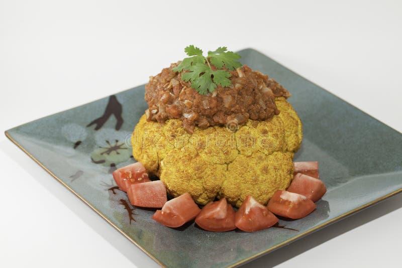 Blumenkohl mit Curry stockfotografie
