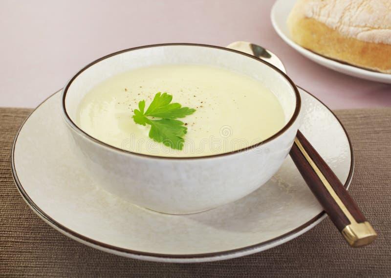 Blumenkohl-Suppe stockfotos