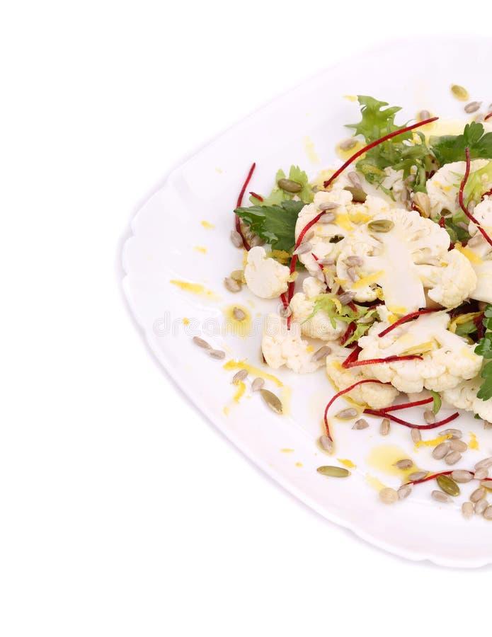 Blumenkohlsalatabschluß oben Makro lizenzfreie stockfotos