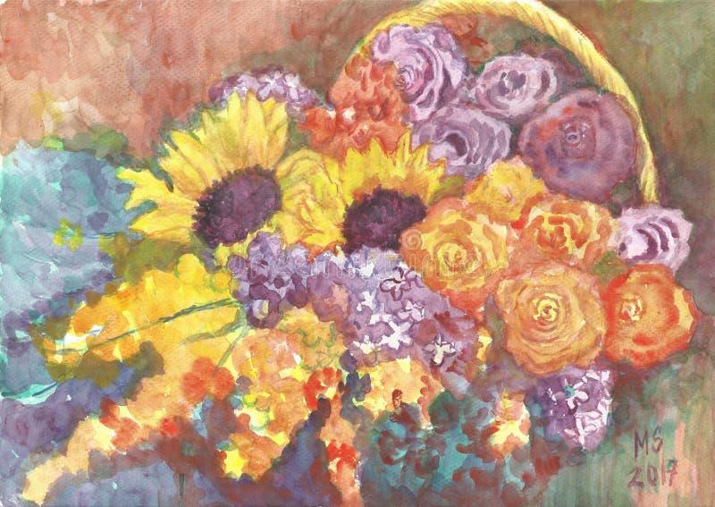 Blumenkorbball lizenzfreie stockbilder