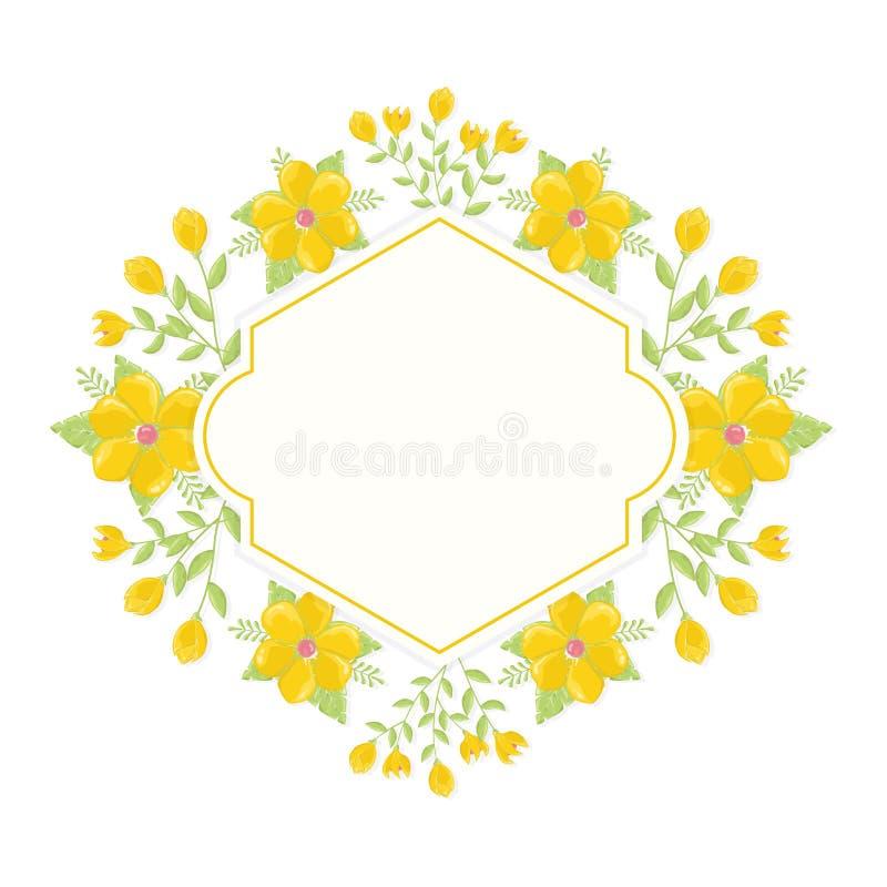 Blumenkranzhintergrund stockfoto