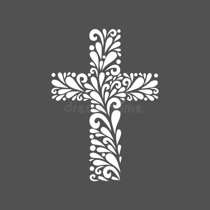Blumenkreuz lizenzfreies stockbild