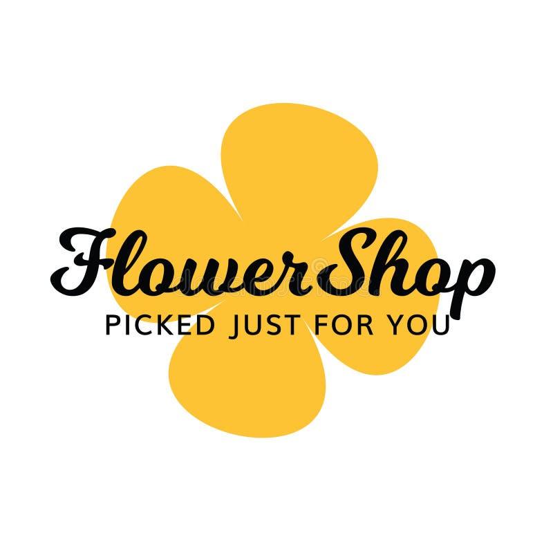 Blumenladen-Blumengeschenk-Badekurort-Salon-Logo lizenzfreies stockbild