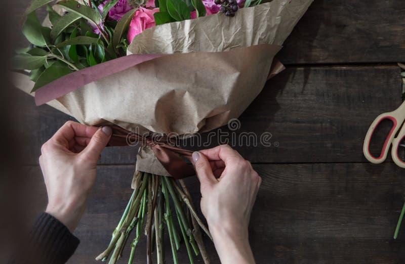Blumenladenhintergrund stockfoto