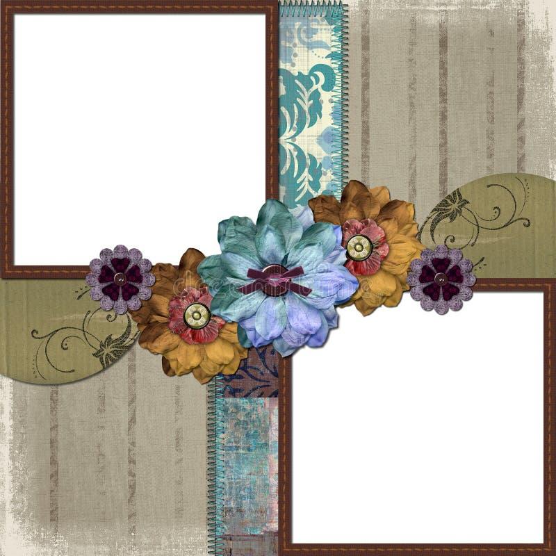 Blumenland-Foto-Feld vektor abbildung