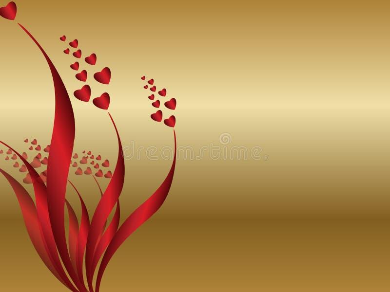 Blumenliebeshintergrund lizenzfreie abbildung