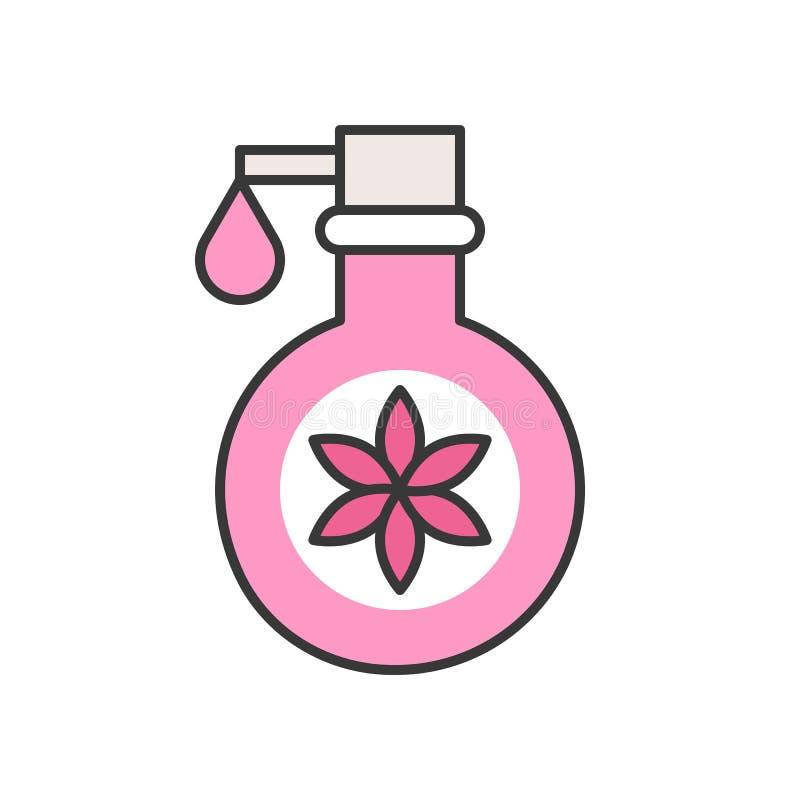 Blumenlotion oder Bad und Körper duschen Flasche vektor abbildung