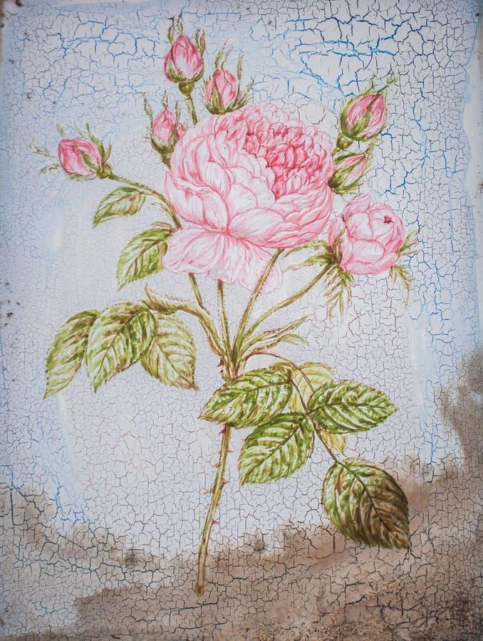 Blumenmalerei stockbild