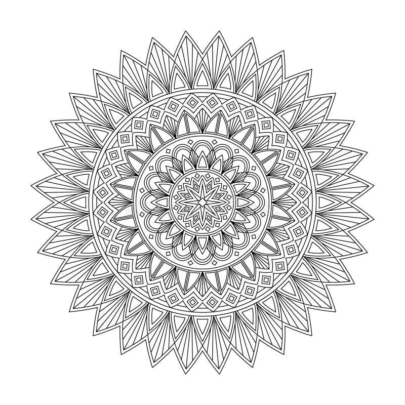 Blumenmandala, Vektorillustration lizenzfreie abbildung
