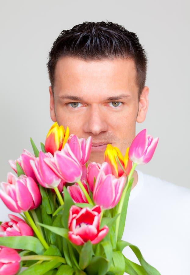 Blumenmann stockfotografie