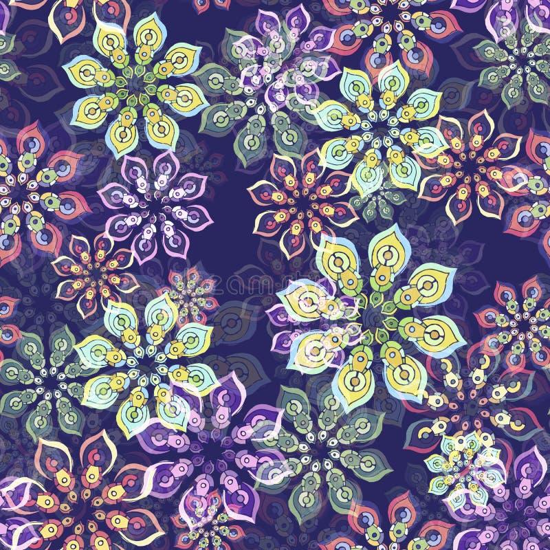 Blumenmuster auf Purpur vektor abbildung