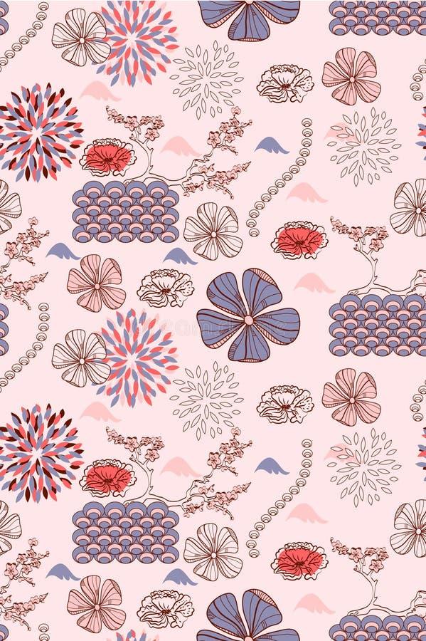Blumenmuster des nahtlosen Frühlinges vektor abbildung