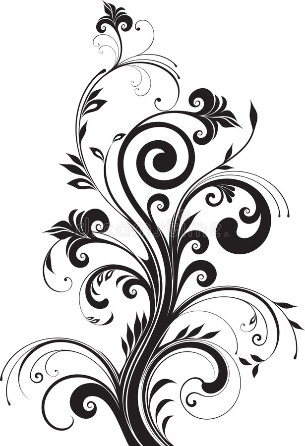 Blumenmuster für Auslegung stock abbildung