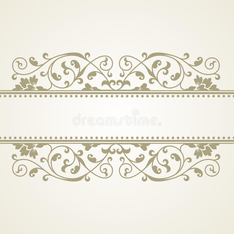 Blumenmuster für Einladungs- oder Grußkarte lizenzfreie abbildung