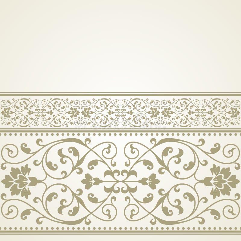 Blumenmuster für Einladungs- oder Grußkarte stock abbildung