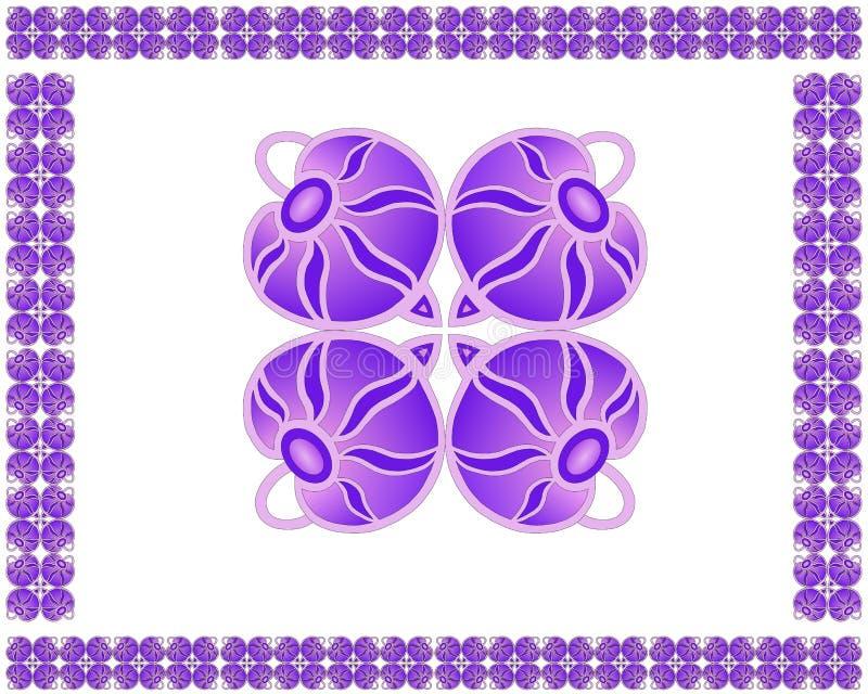 Blumenmuster mit weinartigen Blumen lizenzfreie abbildung