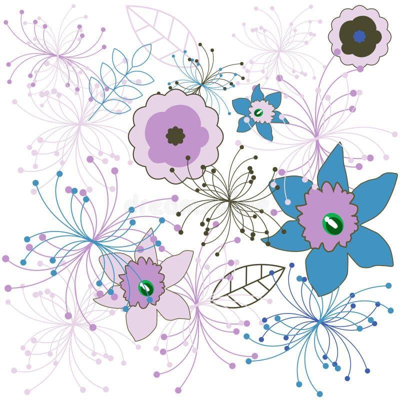 Blumenmuster. Vektor lizenzfreie abbildung