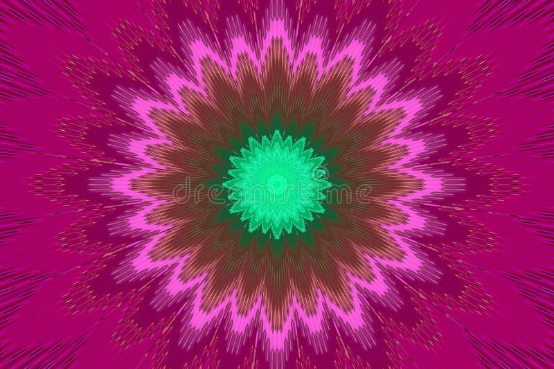 Blumenmusterblumenkaleidoskopamarant Rosa lizenzfreie abbildung
