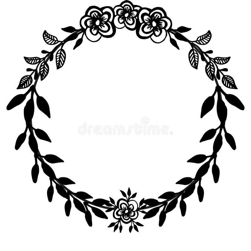 Blumenmusterdekor-Elementsatz Verzierungsblumenrahmen Getrennt auf einem wei?en Hintergrund Vektor stock abbildung