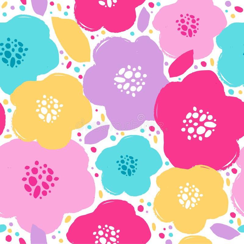 Blumenmusterdesign stockbild