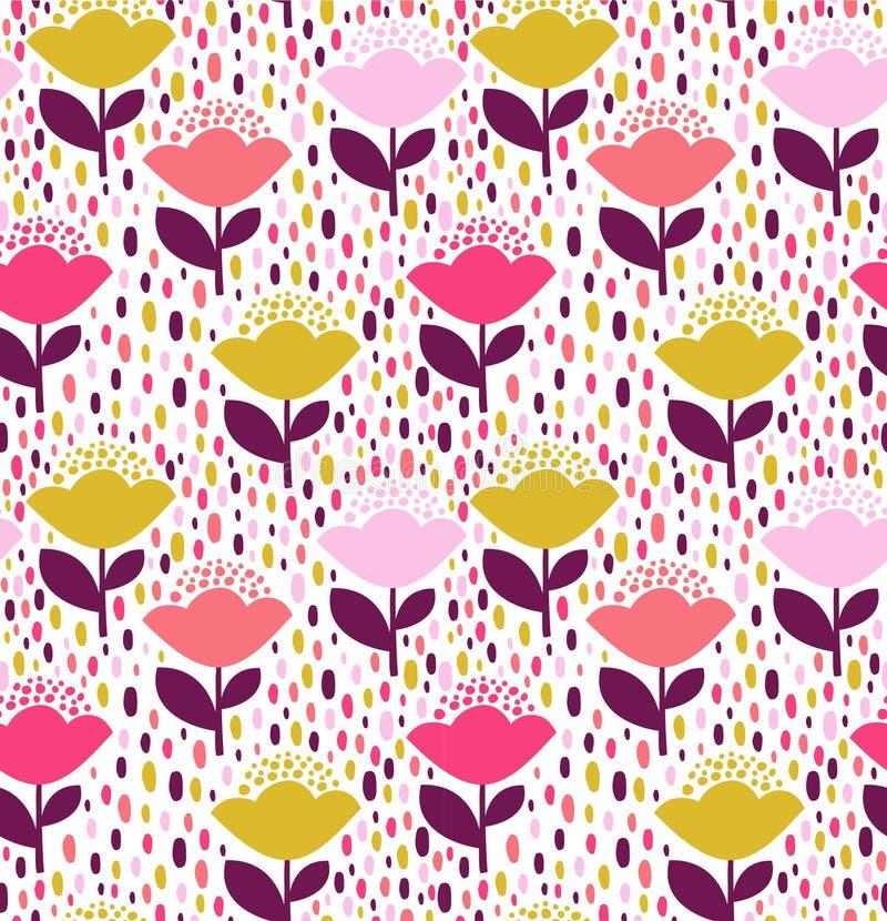 Blumenmusterdesign lizenzfreies stockfoto
