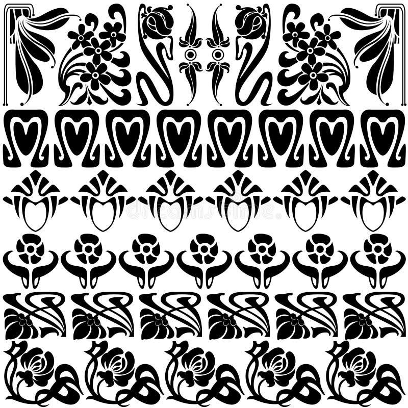 Blumenmusterelemente vektor abbildung