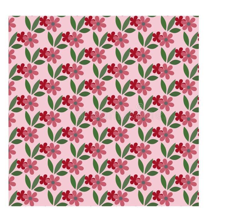 Blumenmusterhintergrund mit Blättern stockfotografie