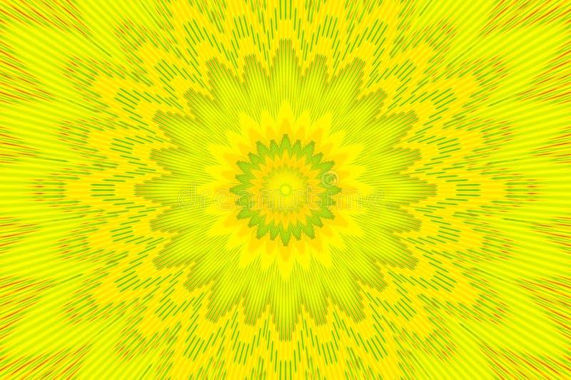 Blumenmusterregenbogenhintergrund Mehrfarben Formhypnotik vektor abbildung