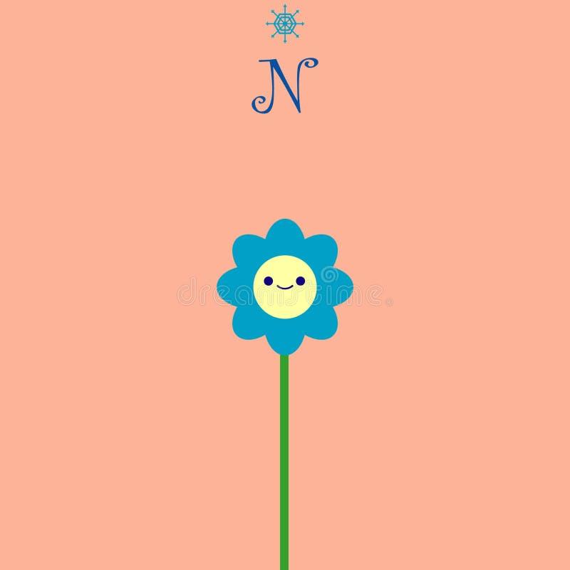 Blumennavigation vektor abbildung