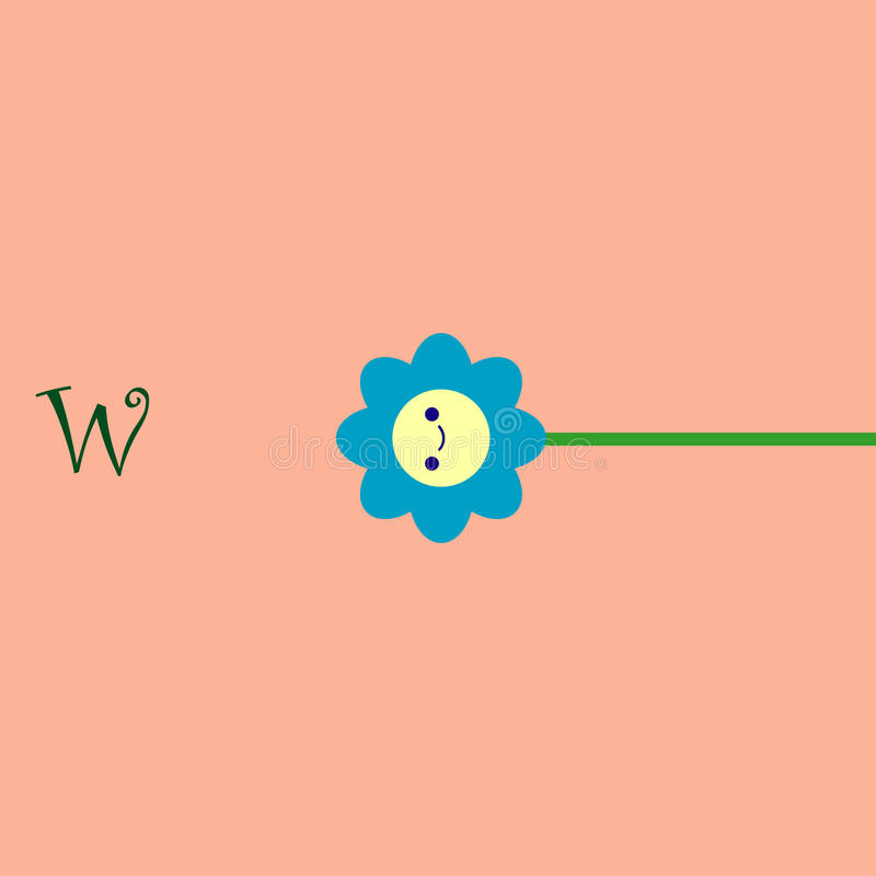 Blumennavigation stock abbildung