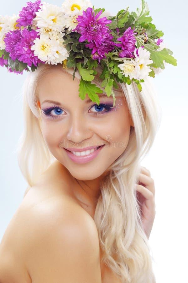 Blumennymphe stockfotografie