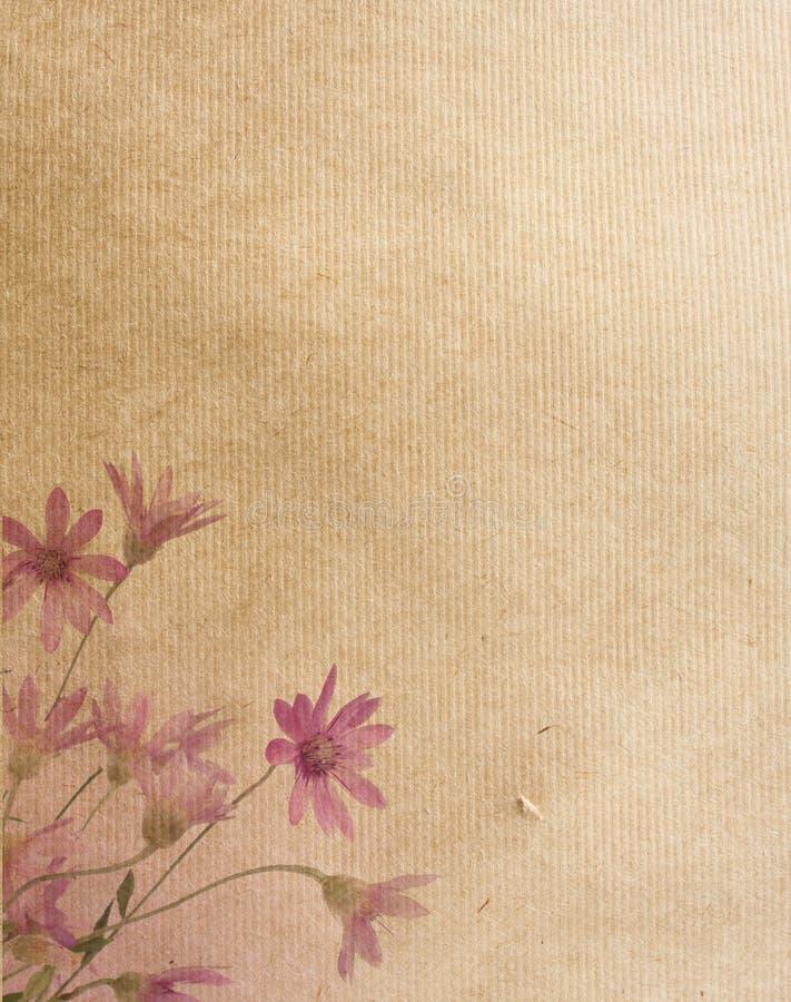 Blumenpapierbeschaffenheiten. stockbild