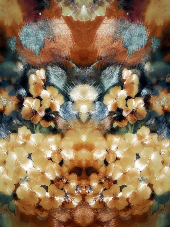 Blumenpapierzusammenfassung stockbild