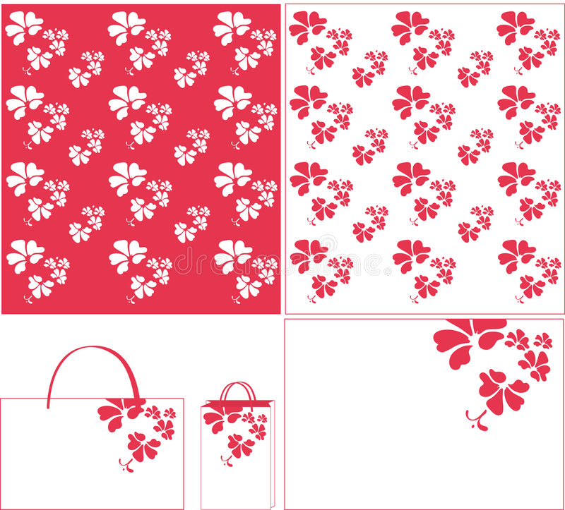 Blumenpurpurmuster stock abbildung