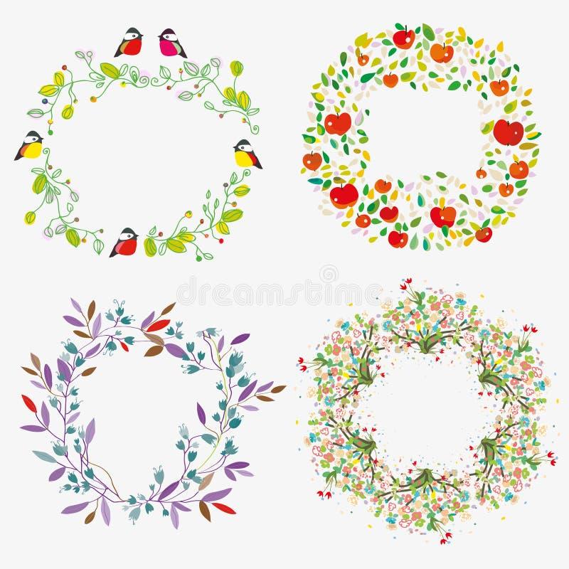 Blumenrahmen für Feiern und Veranstaltungen Vektor-Grafik stock abbildung