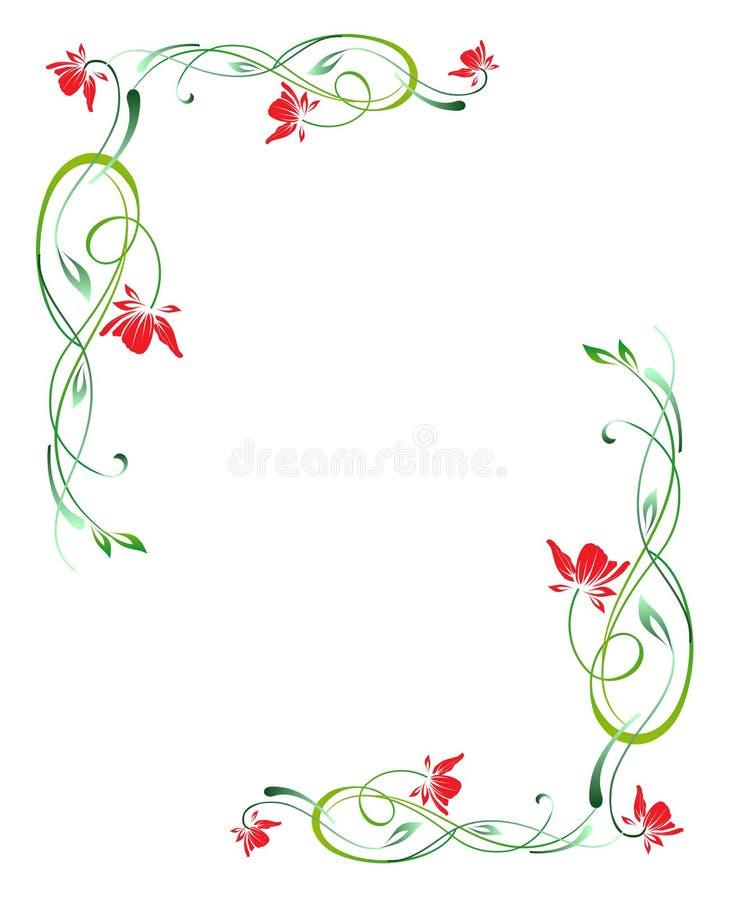 Blumenrand vektor abbildung