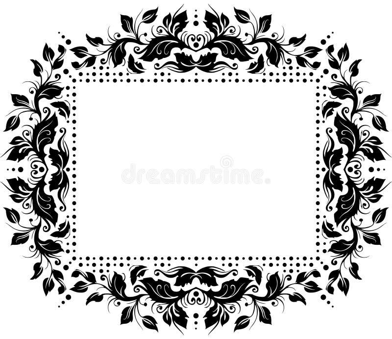 Blumengrenzentwurf lizenzfreies stockbild