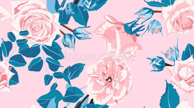 Blumenrosen kopieren in den Pastellfarben lizenzfreie stockfotografie