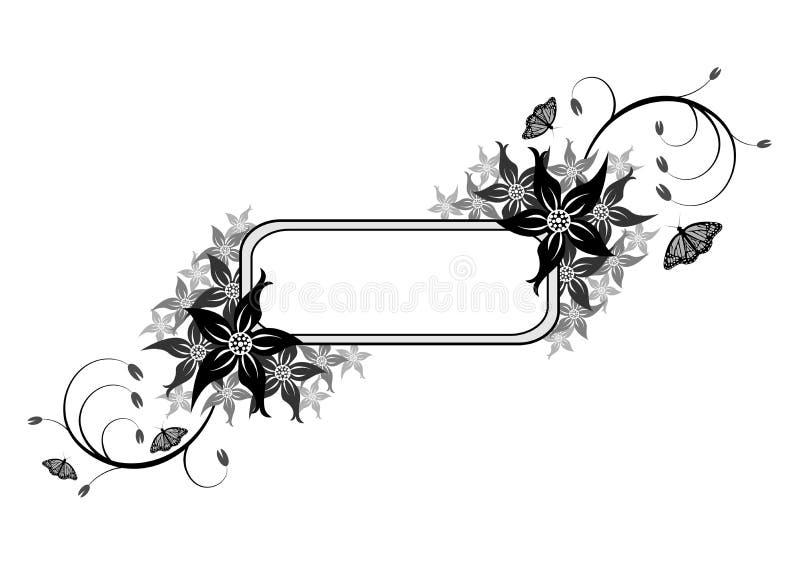 Blumenshields_01 vektor abbildung