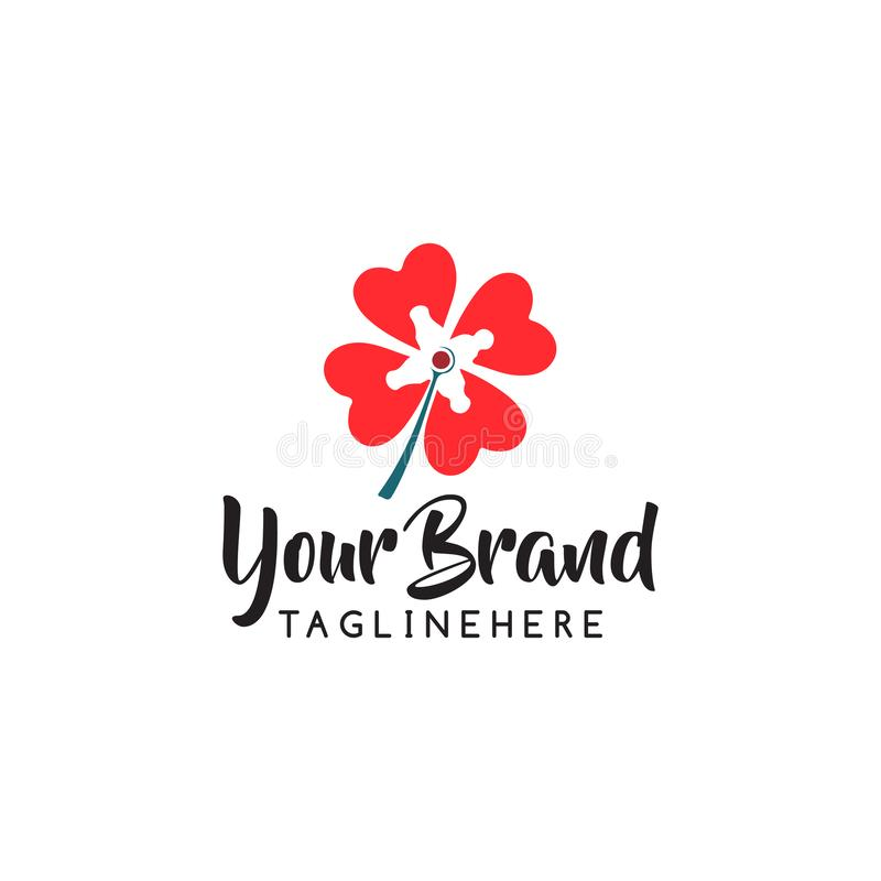 Blumenspeicher-Logoikonen-Vektorentwurf Kosmetik, Badekurort, Schönheitssalon Dekorations-Butikenvektorlogo Blumenlogo Blumenhoch lizenzfreie abbildung