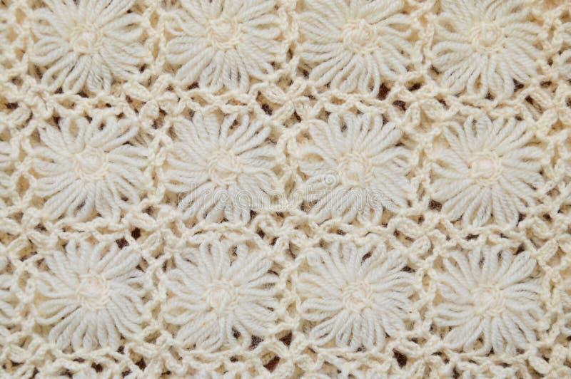 Blumenspitzestrickgarnbeschaffenheit und -hintergrund lizenzfreies stockbild