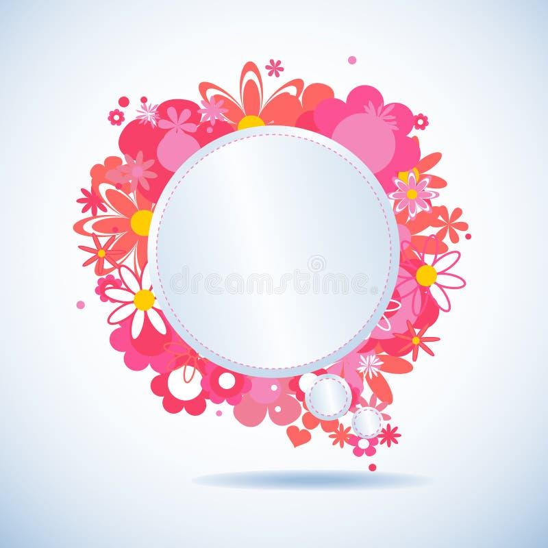 Blumenspracheluftblase stock abbildung