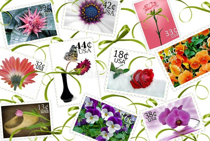 Blumenstempel stock abbildung