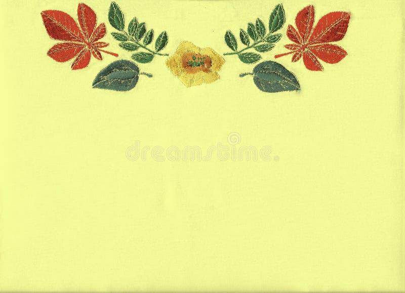 Blumenstickerei. stock abbildung