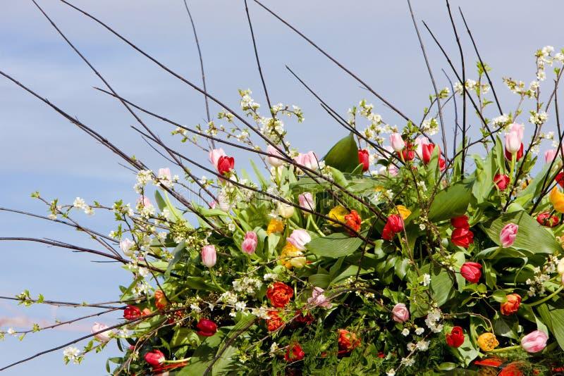 Blumenstrauß, Blumen-Parade, Noordwijk, die Niederlande lizenzfreie stockfotografie